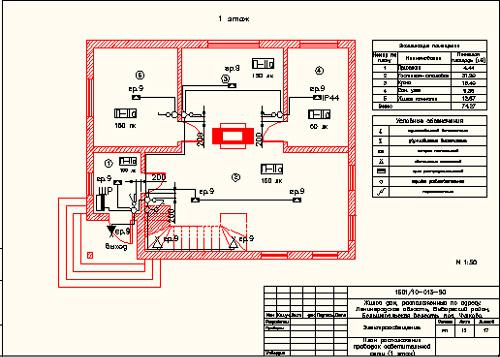 Проект электрики частного дома пример