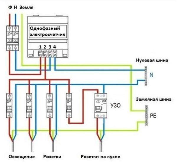 Счетчики электроэнергии меркурий схема подключения фото 824